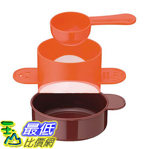 [東京直購] 下村企販 日本製 31135 咖啡濾杯 付量匙 橘色 送禮 實用 咖啡粉適用 免濾紙