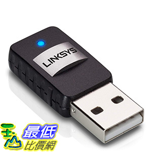 [美國直購] Linksys AE6000 Mini USB Adapter AC 580 Dual Band for Windows 10, 7, 8, XP, Vista
