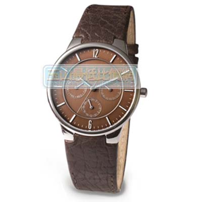 [美國直購 ShopUSA] Skagen 手錶 Men's 331XLSLD1 Steel Brown Leather Multi-Function Watch $3300