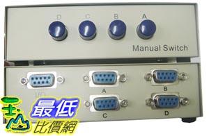 _a@[有現貨 馬上寄] 手動式 4對1 4公頭 DB9 PIN RS232 COM PORT 切換器 SWITCH 共用 分享 (20488_J115) $199