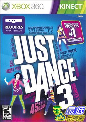 [玉山最低比價網] XBOX360 Just Dance 3 舞力全開3 $1190