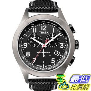 [美國直購 ShopUSA] Timex 手錶 Originals Men's T Chronograph All Black Case, Dial and Black Leather Strap Watch T2N390