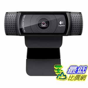 [美國代購] Logitech 攝像頭 HD Pro Webcam C920, 1080p Widescreen Video Calling and Recording (960-000764)