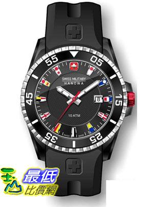 [美國直購 ShopUSA] Swiss 手錶 Military Hanowa Men's Ranger 06-4176-27-007 Black Silicone Quartz Watch with Black Dial  $4220