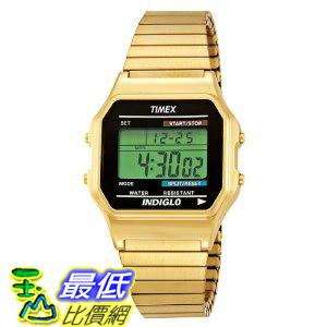 [美國直購 ShopUSA] Timex 手錶 Men's T78677 Classic Digital Gold-Tone Expansion Band Stainless Steel Bracelet Watch