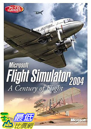 [美國直購 ShopUSA] 全新 微軟 Microsoft Flight Simulator 2004: A Century of Flight  G13-00079 g13-00079_T312 $1350
