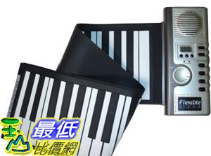 _B@[玉山最低比價網]  新款 49鍵 多功能 100音色 可捲 和絃 觸控式 薄型軟鍵盤 可攜式折疊 鋼琴(28008_H16) $799