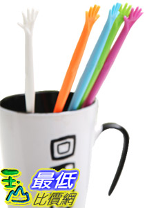 _a@[玉山最低比價網]   創意設計 手型攪拌棒 忙裡偷閒泡茶泡咖啡的好幫手 五色一組 (22320_J101)$14