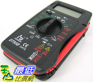 _B@[玉山最低比價網] 攜帶式 數位 多功能三用電表/電錶 直/交流電壓、電流、電阻 (34218_k201) $249