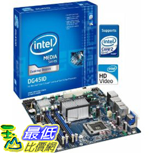 [美國直購 ShopUSA] Intel 原廠主機板 DG45ID Media Series G45 uATX DDR2 800 Intel Graphics HDMI+DVI 1333MHz FSB LGA775 Desktop Board -Other $5087