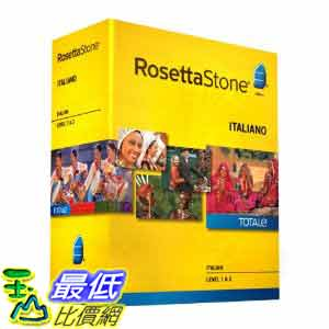 [美國直購ShopUSA] 羅塞塔石碑 Rosetta Stone V4 TOTALe: Italian Level 1-2 Set $17272