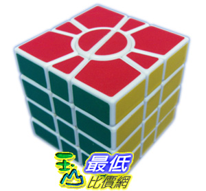 [玉山網] QJ異型魔方-SQ1扇形魔方 奇積四階魔方白底 超順滑 (dmf081_Z03) $448