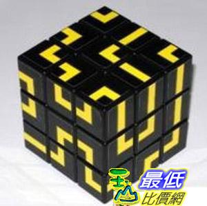 [玉山最低比價網]  小丸號 [小丸號 方塊屋]-簡裝超難迷宮版三階魔方--黃底迷宮 dmf221 $631
