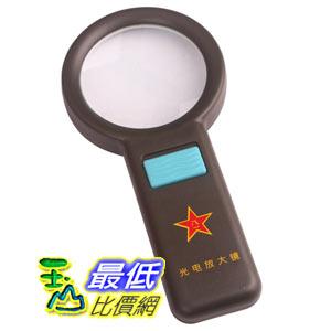 [玉山最低比價網] 高檔軍用 光電放大鏡 88MM 超大型 帶10個LED燈 閱讀鏡(16235_g202) d