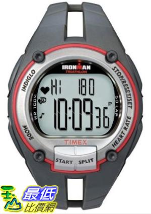 [美國直購 ShopUSA] Timex 手錶 Ironman Men's Road Trainer Heart Rate Monitor Watch, Grey/Red, Full Size