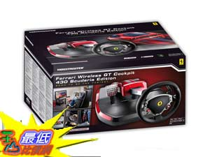 [美國代購] PS3/PC ThrustMaster Ferrari  F430 Scuderia (4160545) GT5支援頂級賽車方向盤組 $19980