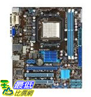 [美國直購 ShopUSA] ASUS 主機板 AMD Socket AM3 760G/SB710 (780L) Ultra ATX DDR3 1066 Motherboard Supports Dual Channel DDR3 Memory up to 1800 mHz M4A78LT-M LE $2612