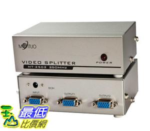 _a @[玉山最低網] VGA Video Splitter 1對2 250MHZ 螢幕 高頻 分接器/分配器/分頻器(20498_R005) $469