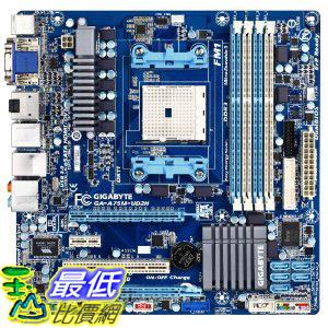 [美國直購 ShopUSA]  Gigabyte 主機板 A75M-UD2H AMD Socket FM1 for AMD Llano CPU, HDMI, Dual Graphic Micro ATX Motherboard   $4099