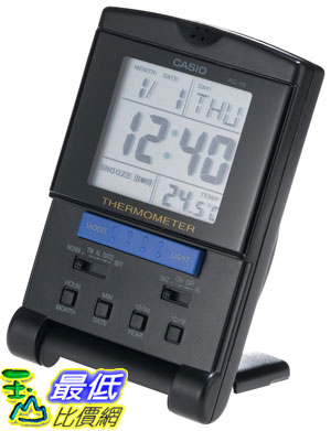 [美國直購 ShopUSA] Casio PQ15-1K Travel Alarm Clock with Thermometer 溫度計