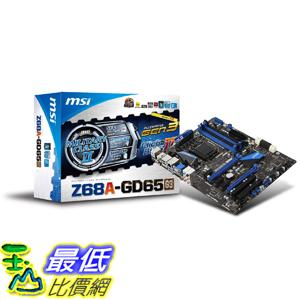[美國直購 ShopUSA] MSI 主機板 LGA1155 Intel Z68 G3 DDR3 CrossFireX & SLI SATA3 & USB3.0 ATX Motherboard - Z68A-GD65 (G3) $8796