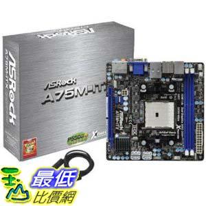 [美國直購 ShopUSA] ASRock 主機板 Socket FM1/AMD A75 FCH/SATA3&USB3.0/A&GbE/Mini-ITX Motherboard A75M-ITX $3900
