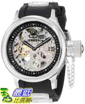 [美國直購 ShopUSA] Invicta 手錶 Men's 1088 Russian Diver Mechanical Skeleton Dial Black Polyurethane Watch
