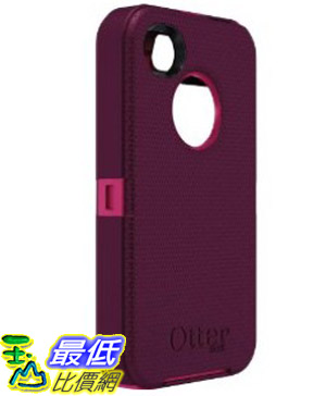 [美國直購 USAshop] Otterbox 保護殼 77-18585 Defender Series for iPhone 4 & 4S - 1 Pack - Retail Packaging - Peony Pink/Deep Plum