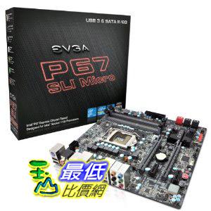 [美國直購 ShopUSA]  EVGA 主機板 Intel P67 SLI Micro ATX DDR3 1333 Motherboard 120-SB-E672-KR  $7265