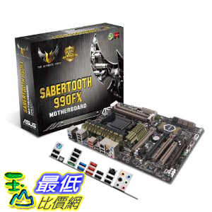 [美國直購 ShopUSA] ASUS 主機板 Sabertooth 990FX - AM3+ - TUF Series - ATX AMD 990FX DDR3 1800 Motherboards $8497