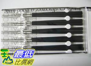 _%[臺灣製] Buffalo 牛頭牌『彩晶鋼筷子』,5雙入/組,不銹鋼_TC39 黑色  $216
