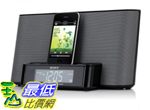 [美國直購] (整新機 屬於二手良品 保固三個月) Sony ICFCS10iP Speaker Dock with Alarm Clock and Radio for iPod/iPhone (Black) $2780