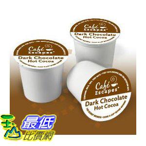 [美國直購 ShopUSA] Green Mountain Cafe Escapes Dark Chocolate Hot Cocoa 熱可可 K-Cup (24 count) $1688