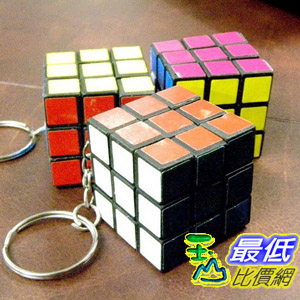 [美國代購 shopUSA] A0346 魔方鑰匙扣 Rubic Rubicks Rubik 3x3x3 Key Chain Cube Puzzly Game Toy IQ Test Rubix New_TF12 $99