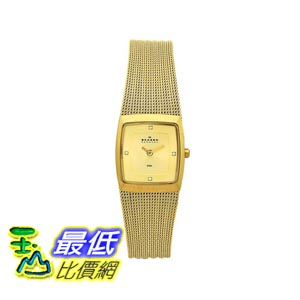 [美國直購 ShopUSA] Skagen 手錶 Women's 380XSGGG1 Denmark Goldtone Mesh Gold Dial Watch $3028