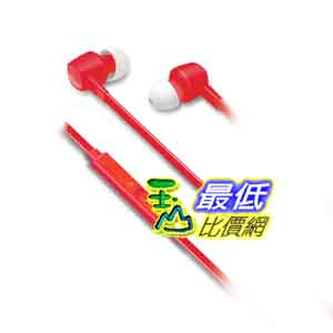 [美國直購 ShopUSA] iLuv 紅色耳機 IEP386RED JetTurbo High-Performance Earphones with SpeakEZ Remote for Smartphones, Red $540