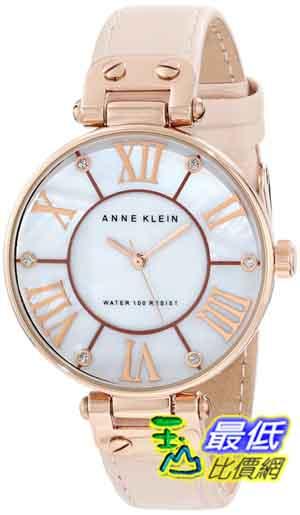 [美國直購 ShopUSA] Anne Klein 手錶 Women's 10/9918RGLP Leather Rosegold-Tone Pink Leather Strap Watch $2900