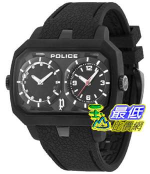 [103 美國直購] Police 手錶 Men's Hydra PL.13076JPB/02 Black Rubber Analog Quartz Watch with Black Dial $5615
