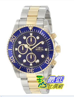 [103 美國直購] Invicta 手錶 Men's 1773  Pro Diver  18k Gold Ion-Plating and Stainless Steel Watch