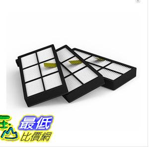 [103 玉山最低比價網] 大陸製 Roomba  (濾網3入) 800 900 系列吸塵器相容型濾網 870 880 980