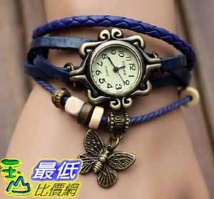 [美國直購 USAShop] Fashion Accessories Trial Order New Quartz Fashion Weave Wrap Around Leather Bracelet Lady Woman Wrist Watch Blue $498