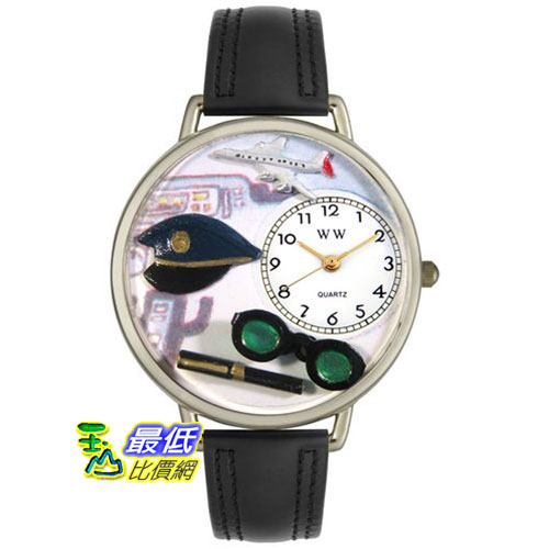 [美國直購 USAShop] Whimsical 手錶 Unisex Airline Pilot in Silver Watch U0610022 _mr $2087