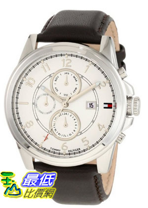 [美國直購 USAShop] Tommy Hilfiger Men's 1710294 Stainless Steel and Leather Strap White Dial 手錶 $2927