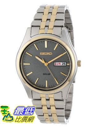 [美國直購 USAShop] Seiko 手錶 Men's SNE042 Two-Tone Solar Charcoal Dial Watch $4652