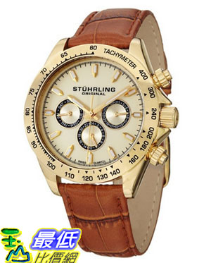[美國直購 USAShop] Stuhrling 手錶 Original Men's 564L.02 Triumph Classic Swiss Quartz Multifunction Gold Tone Watch $4777