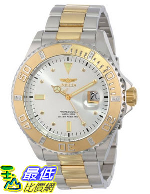 [美國直購 USAShop] Invicta 手錶 Men's 15285 Pro Diver Silver Dial Two Tone Stainless Steel Watch