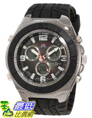 [美國直購 USAShop] U.S. Polo Assn. Sport Men's US9024 Black Textured Strap Analog Digital 手錶 $1123
