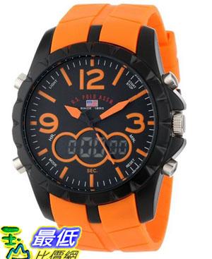 [美國直購 USAShop] U.S. Polo Assn Sport Men's US9057 Analog-Digital Black Dial and Orange Rubber Strap 手錶 $1123