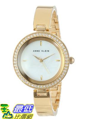 [美國直購 USAShop] Anne Klein 手錶 Women's AK/1420MPGB Gold-Tone Bangle Watch $3769