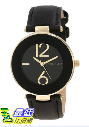 [美國直購 USAShop] Anne Klein 手錶 Women's AK/1064BKBK Gold Tone Black Leather Strap Watch $2509